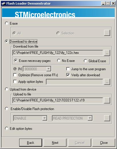 STM32 Flash Loader (for flashing via FTDI) – KISS – Keep It Super